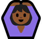 Woman Gesturing Ok Emoji with Medium-Dark Skin Tone, Microsoft style