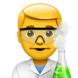 Man Scientist Emoji, Apple style