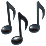 Music Emoji / Musical Notes Emoji, Apple style