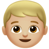 Boy Emoji with a Medium-Light Skin Tone, Apple style