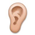 Ear Emoji with Medium Skin Tone, LG style