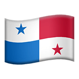 Flag of Panama Emoji, Apple style