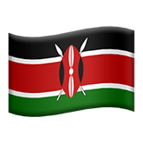 Flag of Kenya Emoji, Apple style