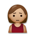 Person Frowning Emoji with Medium Skin Tone, LG style