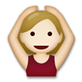 Person Gesturing Ok Emoji with a Medium-Light Skin Tone, LG style