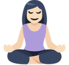 Person in Lotus Position Emoji with Light Skin Tone, Facebook style