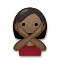 Person Gesturing No Emoji with a Dark Skin Tone, LG style