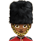 Woman Guard Emoji with Medium-Dark Skin Tone, Apple style