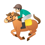 Horse Racing Emoji with Light Skin Tone, Google style