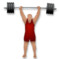 Person Lifting Weights Emoji with Medium Skin Tone, LG style