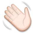 Waving Hand Emoji with a Light Skin Tone, LG style