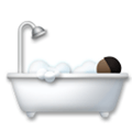 Person Taking Bath Emoji with a Dark Skin Tone, LG style