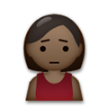 Person Frowning Emoji with Dark Skin Tone, LG style