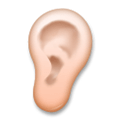 Ear Emoji with a Medium-Light Skin Tone, LG style