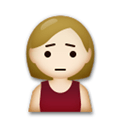 Person Frowning Emoji with a Medium-Light Skin Tone, LG style