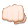 Oncoming Fist Emoji with a Light Skin Tone, LG style