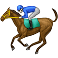 Horse Racing Emoji with Light Skin Tone, LG style