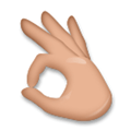 Ok Hand Emoji with a Medium Skin Tone, LG style