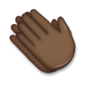 Clapping Hands Emoji with a Dark Skin Tone, LG style