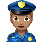 Woman Police Officer Emoji with a Medium Skin Tone, Apple style