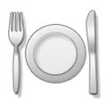Fork and Knife with Plate Emoji, Samsung style