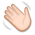 Waving Hand Emoji with a Medium-Light Skin Tone, LG style