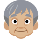 Older Person Emoji with Medium-Light Skin Tone, Facebook style