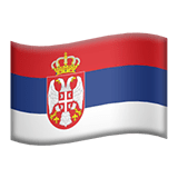 Flag of Serbia Emoji, Apple style