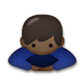 Person Bowing Emoji with a Dark Skin Tone, LG style