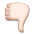 Thumbs Down Emoji with Light Skin Tone, LG style