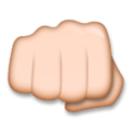 Oncoming Fist Emoji with a Medium-Light Skin Tone, LG style