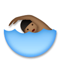 Person Swimming Emoji with Medium-Dark Skin Tone, LG style
