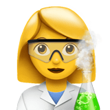Woman Scientist Emoji, Apple style