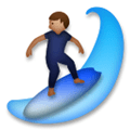 Person Surfing Emoji with a Medium Skin Tone, LG style
