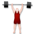 Person Lifting Weights Emoji with a Light Skin Tone, LG style