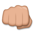 Oncoming Fist Emoji with a Medium Skin Tone, LG style