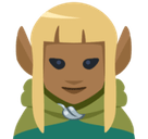 Elf Emoji with Medium-Dark Skin Tone, Facebook style