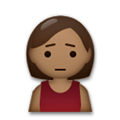 Person Frowning Emoji with a Medium-Dark Skin Tone, LG style
