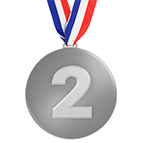 2nd Place Medal Emoji, Apple style