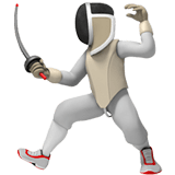 Person Fencing Emoji, Apple style