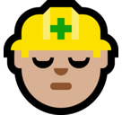 Construction Worker Emoji with Medium-Light Skin Tone, Microsoft style