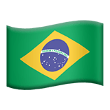 Flag of Brazil Emoji, Apple style