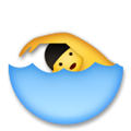Swimmer Emoji / Person Swimming Emoji, LG style
