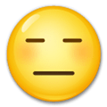 Expressionless Face Emoji, LG style