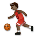 Person Bouncing Ball Emoji with Dark Skin Tone, LG style