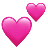 Two Hearts Emoji, Apple style