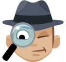 Detective Emoji with a Medium-Light Skin Tone, Facebook style