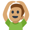 Man Gesturing Ok Emoji with Medium Skin Tone, Facebook style