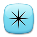 Eight-Pointed Star Emoji, LG style