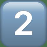 Keycap: 2 Emoji, Apple style
